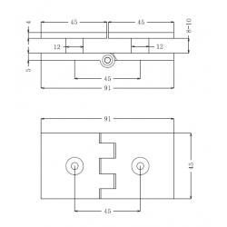 SHC-2232-180R PC Коннектор стекло - стекло регулируемый