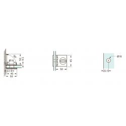 Комплект для распашных дверей CL-200 (set 14)