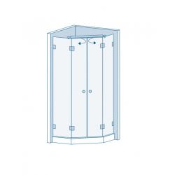 Комплект для распашных дверей CL-200 (set 15)