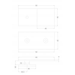 SHC-223-180 PC Коннектор стена - стекло 180°