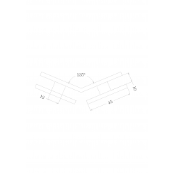 SHC-2232-1335 PC Коннектор стекло - стекло 135°