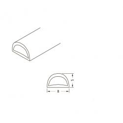 PVC-104 Уплотнитель для душевых кабин