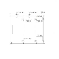 FDC-6200 (set 2) Система раздвижных перегородок