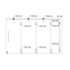FDC-6200 (set 3) Система раздвижных перегородок