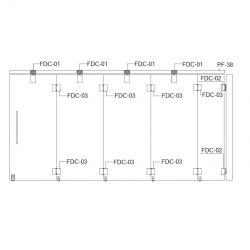 FDC-6200 (set 4) Система раздвижных перегородок