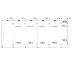 FDC-6200 (set 5) Система раздвижных перегородок
