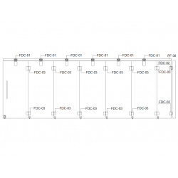 FDC-6200 (set 6) Система раздвижных перегородок