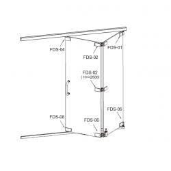 FDS-6100 (set 1) Система раздвижных перегородок