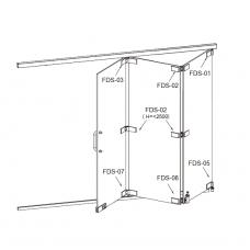 FDS-6100 (set 2) Система раздвижных перегородок