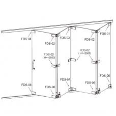 FDS-6100 (set 3) Система раздвижных перегородок