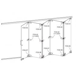 FDS-6100 (set 4) Система раздвижных перегородок