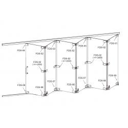 FDS-6100 (set 5) Система раздвижных перегородок