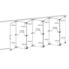 FDS-6100 (set 6) Система раздвижных перегородок