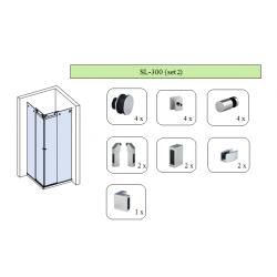 Комплект для раздвижной душевой перегородки SL-300 (set 2)