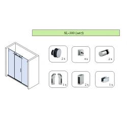 Комплект для раздвижной душевой перегородки SL-300 (set 5)