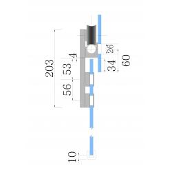 SDF-526 SSS Крепление трека к стеклу