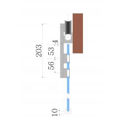 SDF-527 SSS Крепление трека к стене